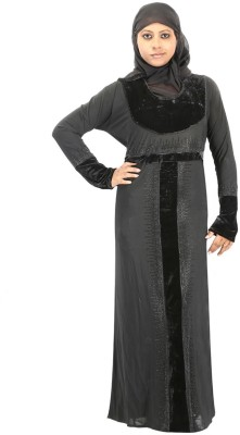Hawai WB00271 Lycra Self Design Burqa Yes