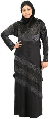 Hawai WB00267 Lycra Self Design Burqa Yes