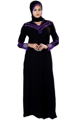 Saree Exotica 3055BK1493 Lycra Printed Abaya Yes