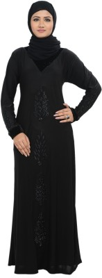 Nargis NARBUR14 Lycra, Crepe Self Design Burqa Yes