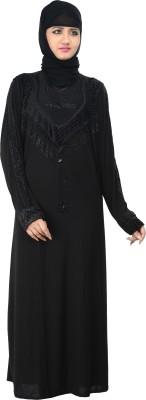 Nargis NARB22 Lycra Crepe Self Design Burqa Yes