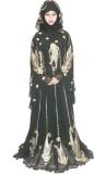 Pehnawa BW0007886 Georgette Abaya (Black...