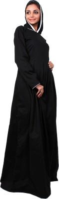 Islamic Attire AB_ISA_0025 100% Cotton Twill Solid Abaya No