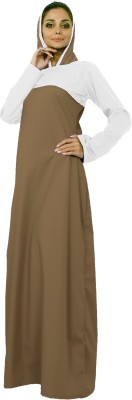 Islamic Attire AB_ISA_0022 100% Cotton Twill Solid Abaya No