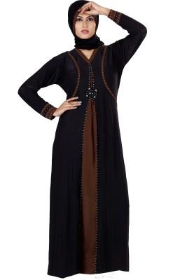 Saree Exotica 3055BK1460 Lycra Printed Abaya Yes
