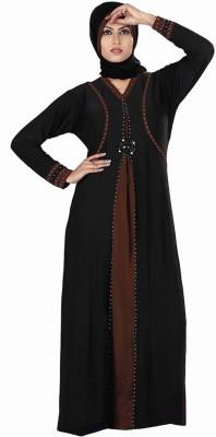 Saree Exotica 3055BK1463 Lycra Printed Abaya Yes