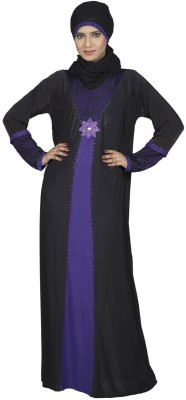Hawai WB00038 Lycra Self Design Burqa Yes