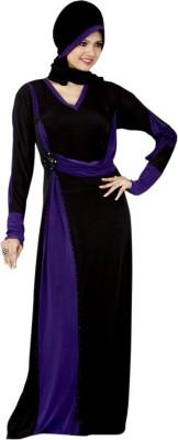 Saree Exotica 14430 Lycra, Crepe Self Design Abaya Yes