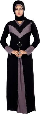 Saree Exotica 3055BK1480 Lycra Printed Abaya Yes