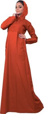 Islamic Attire AB_ISA_0024 100% Cotton Twill Solid Abaya No