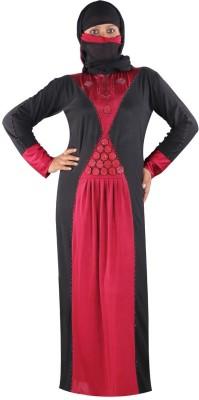 Hawai WB130 Polyester Self Design Burqa Yes