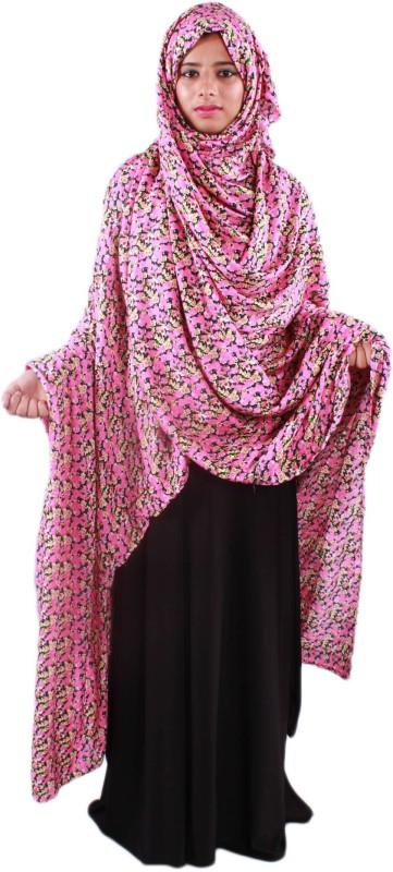 Muslimkart PY16NV6694PK Cotton Abaya(Pink, Purple)