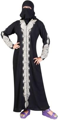 Hawai WB00049 Lycra Self Design Burqa Yes(Black)