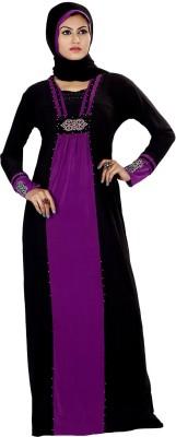 Saree Exotica 3055BK1498 Lycra Printed Abaya Yes