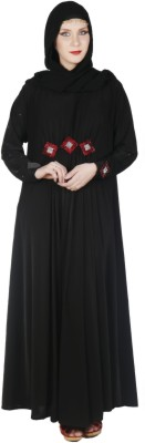 Islamic Attire Lulu Polyester Solid Abaya No