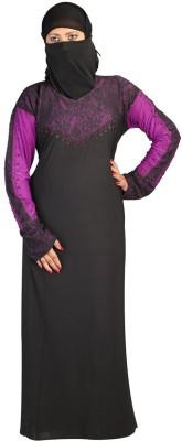 Hawai WB00221 Lycra Self Design Burqa Yes