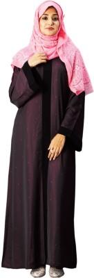 Parvin 3138MB Poly Silk Solid Burqa No
