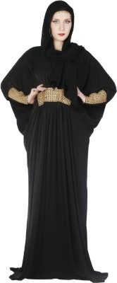 Islamic Attire Maya Polyester Solid Abaya No