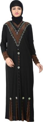 Nargis NARB24 Lycra Crepe Self Design Burqa Yes
