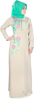 MyBatua AY-385-M Crepe Self Design Abaya Yes