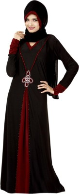 Saree Exotica 14370 Lycra, Crepe Self Design Abaya Yes