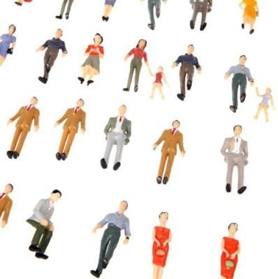 Docooler 50Pcs G Scale 130 Mix Painted Model People Train Park