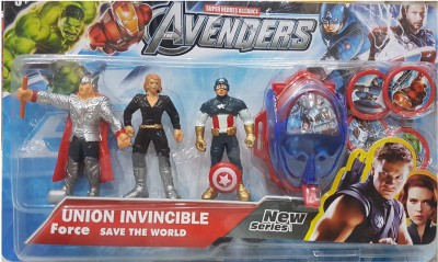 AS Avengers Action Figures of 3 Super Heroes