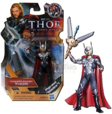 Hasbro Thor: The Mighty Avenger Action Figure #07 Hammer Smash Thor 3.75 Inch