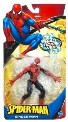 Marvel Spider-Man Trilogy: Classic Heroes Red & Blue Spider-Man With Wall Sticking W...
