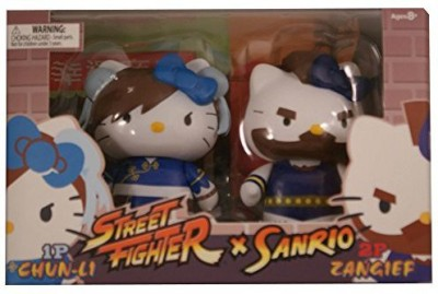 Toynami Hello Kitty Chun Li Vs Zangief Pvc Set