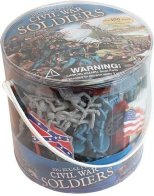 SCS Direct Civil War Army Men Big Bucket Of Civil War Soldiers Over