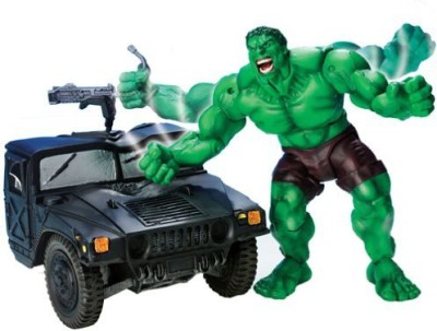 Toy Biz Smash & Crush Hulk with Military Truck & Smashing Action