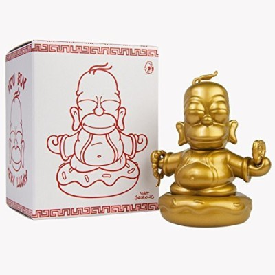 Kidrobot The Simpsons 3Inch Gold Homer Buddha(Gold)