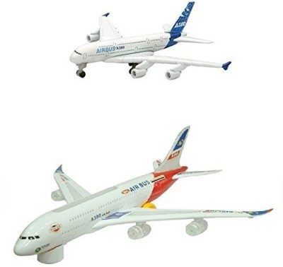 Wish Kart Combo Of Battery Operated Airbus Plane(Big,Small)(Multicolor)
