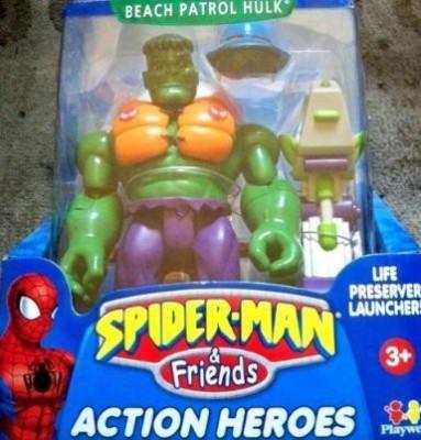 Tb Spiderman & Friends Beach Patrol Hulk With Life Preserver