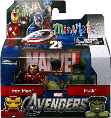 Art Asylum Marvel Minimates Series 45 Avengers Movie Mini 2Pack Iron Man