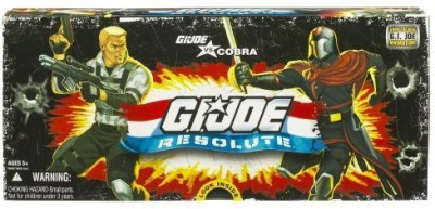 Hasbro GI JOE vs. Cobra RESOLUTE 3 3/4 inch Action Figure Collector 5 Pack