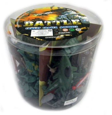 Liberty Imports S Army Men Soldier Bucket Playset With Tanksplanesflags