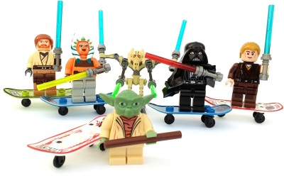 asa products star wars mini with swords and boards