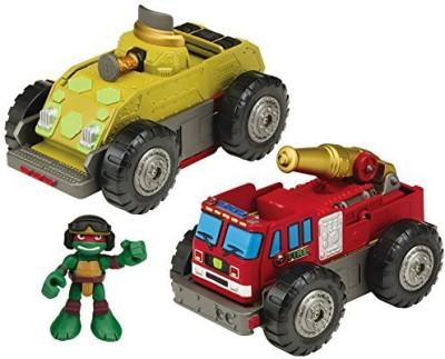 Teenage Mutant Ninja Turtles Turtles Pre-Cool Half Shell Heroes Mutations Fire Truck to Tank with Raphael Mutating Vehicle and Figure