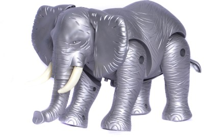 Peek-Aboo Battery Operated Elephant Toy(Silver)