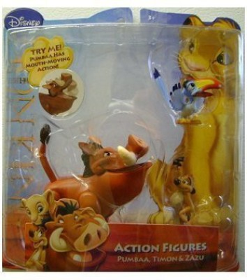 Just Play Disney Lion King Exclusive Action Figure Pumbaa, Timon Zazu