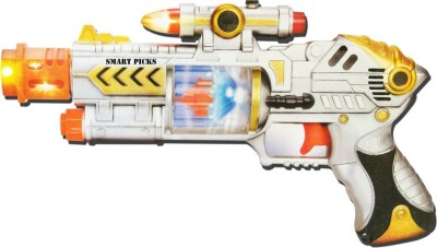 Bharat Battery Operated Laser Sound Gun(Multicolor)
