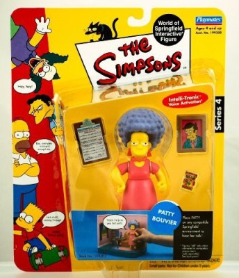 The Simpson S 2001 Playmates Series 4 Patty Bouvier W/ Accessories