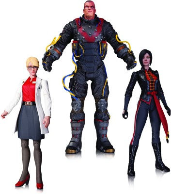 DC Collectibles Electrocutioner Lady Shiva Harleen Quinzell Action Figure 3 PK