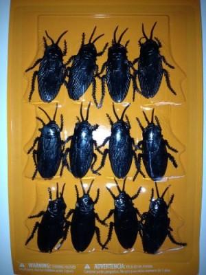 Jesus del Pozo Set Of 12 Cockroaches 2 Inch Creepy Halloween Decor