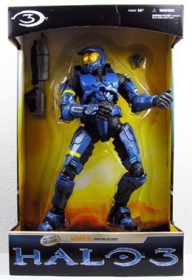 Halo 3 McFarlane Toys Exclusive 12 Inch * Giant Sized * BLUE Mark VI Spartan Soldier