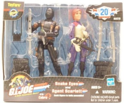 G I Joe Fare Exclusive Agent Scarlett & Snake Eyes2Pack