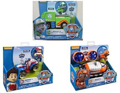 Paw Patrol 3 Pack Playsets Rocky,S Recycling Truckryder,S Rescue