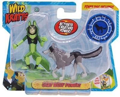 Wicked Cool Toys Wild Krattsanimal Power Setgray Wolf Power